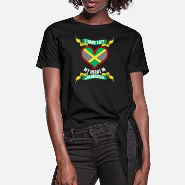 Jamaica I Have Left My Heart In Jamaica - Women's Knotted T-Shirt