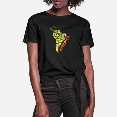 South America South America - Women's Knotted T-Shirt