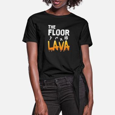 Transport The Floor is Lava - Women's Knotted T-Shirt
