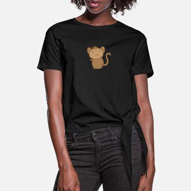 Ape Baby monkey - Women's Knotted T-Shirt