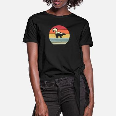 Skunk Skunk Print. Retro Style Graphic - Women's Knotted T-Shirt