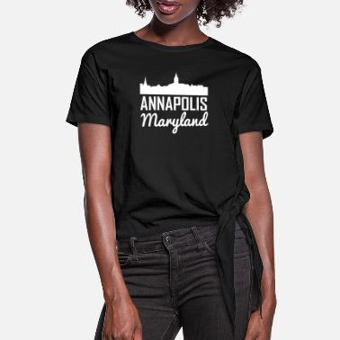Annapolis-maryland Annapolis Maryland Skyline - Women's Knotted T-Shirt