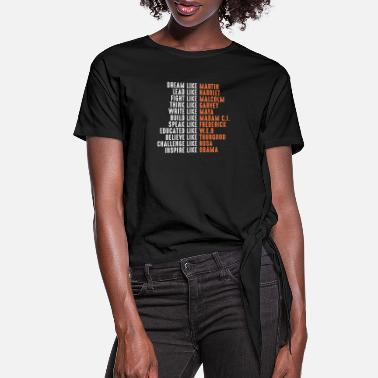 Dream dream like martin - Women's Knotted T-Shirt