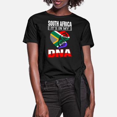 South Africa South Africa DNA Tshirt - Women's Knotted T-Shirt