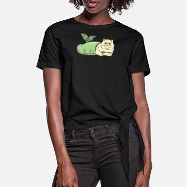 Purr Purr Maid - Women's Knotted T-Shirt