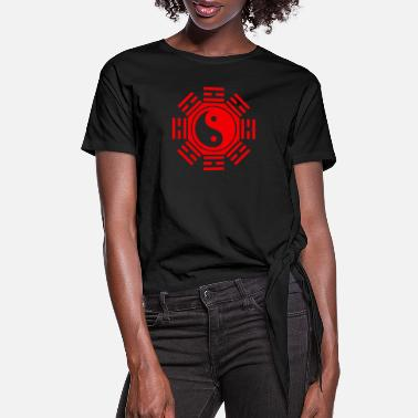 Taoism The design which made Chinese TAOISM a motif - Women's Knotted T-Shirt