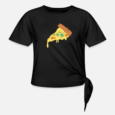 Alien Pizza - Women's Knotted T-Shirt