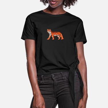 Bengal Tiger Bengal Tiger Full Body - Women's Knotted T-Shirt