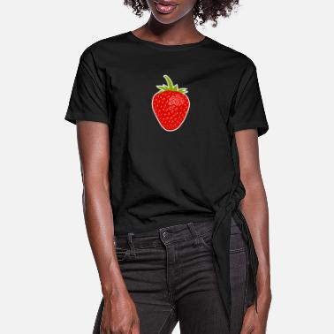 Strawberry - Women's Knotted T-Shirt
