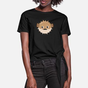Puffer Fish Puffer Fish Bubble Fish Grumpy Funny Gift Idea - Women's Knotted T-Shirt