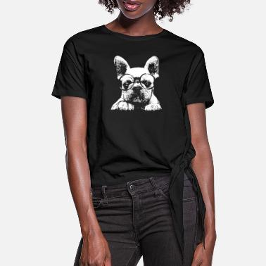 Bulldog French Bulldog T shirt - Women's Knotted T-Shirt