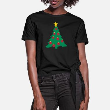 Decorations Christmas Tree and Decorations - Women's Knotted T-Shirt