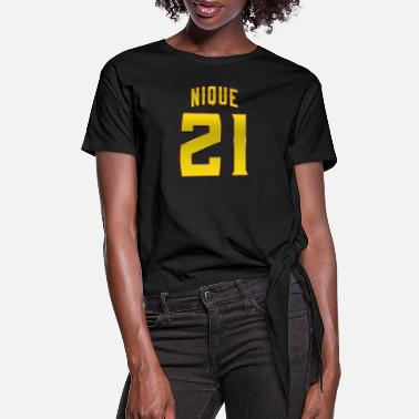 Nique 21 Basketball Legend - Women's Knotted T-Shirt