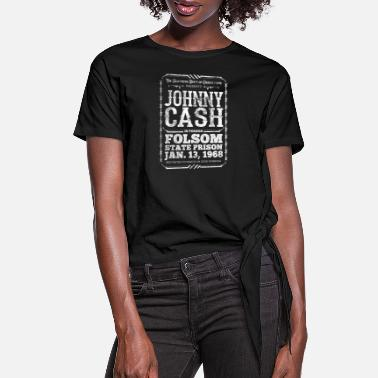 Cash Johnny Cash at Folsom Prison - Women's Knotted T-Shirt