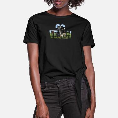 Go Vegan, animal rescue - Women's Knotted T-Shirt
