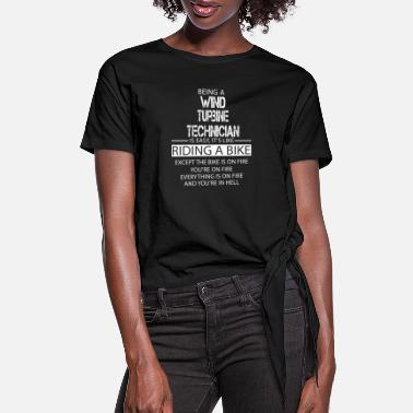 Turbine Wind Turbine Technician - Women's Knotted T-Shirt