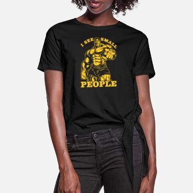 Gold I See Little People - Women's Knotted T-Shirt