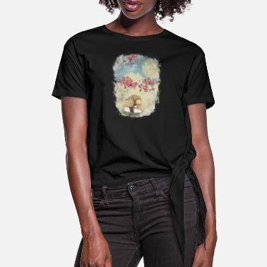 Freestyle Sushi Japan Cat - Women's Knotted T-Shirt