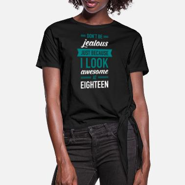 Eighteen Awesome At Eighteen - Women's Knotted T-Shirt