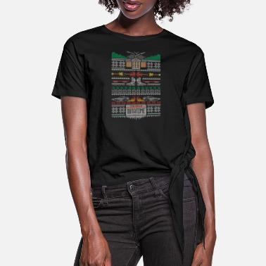 Future Back to the Future Christmas Design - Women's Knotted T-Shirt