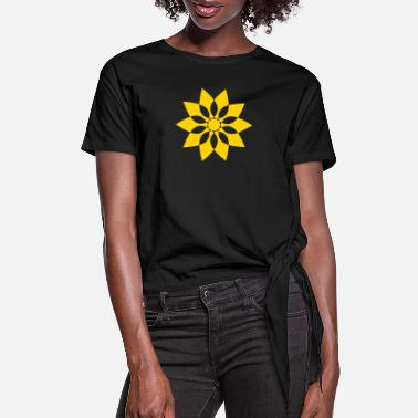 Pattern star - Women's Knotted T-Shirt