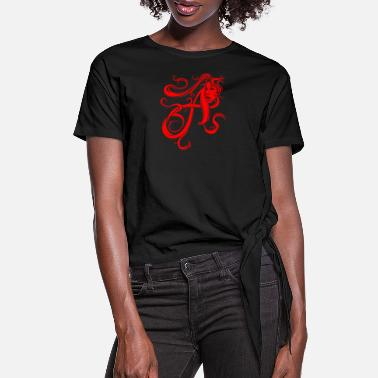 Scarlet The Scarlet Letter - Women's Knotted T-Shirt