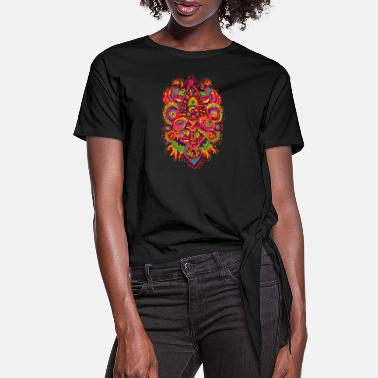 Psychedelic Monster Series: Transcendence - Women's Knotted T-Shirt