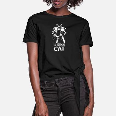 S Fat Cat Fat Freddys Cat - Women's Knotted T-Shirt