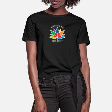 Canada anniversary 150 - Women's Knotted T-Shirt