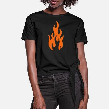Tatoo flames 1 - Women's Knotted T-Shirt
