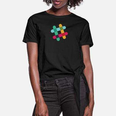 Slack Slack - Women's Knotted T-Shirt