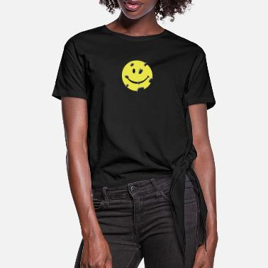 Irony shot smiley - Women's Knotted T-Shirt
