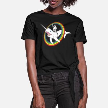 Narwhal Rainbow Stormtrooper - Women's Knotted T-Shirt