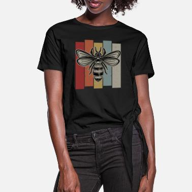 Bee Bee Retro - Women's Knotted T-Shirt