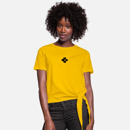 Destiny T-Shirts - Destiny Ghost - Women's Knotted T-Shirt sun yellow