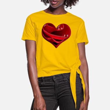 RED HEART - Women's Knotted T-Shirt