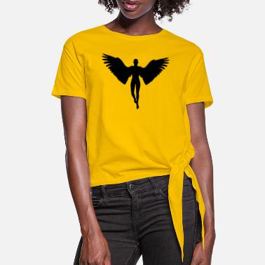Angel angel graphic - Women's Knotted T-Shirt
