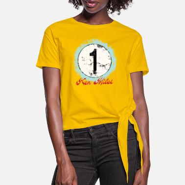 Le Mans Ken Miles Rugged Number - Women's Knotted T-Shirt