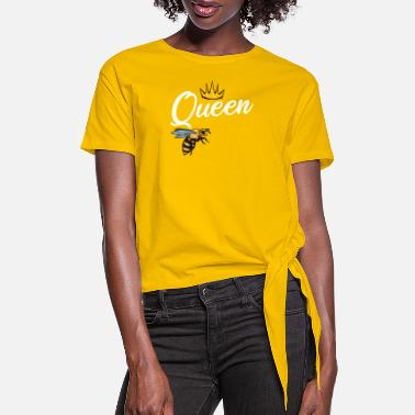 Jelly Queen Bee Crown Sweet Natural Honey Beekeeper - Women's Knotted T-Shirt