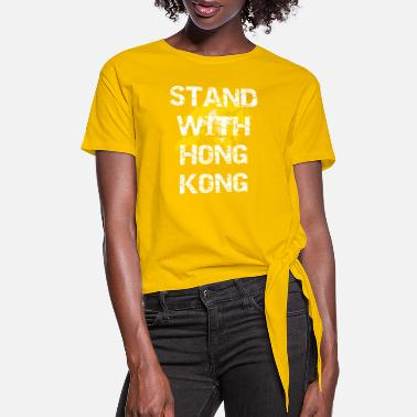 Stand Stand with Hong Kong - Women's Knotted T-Shirt
