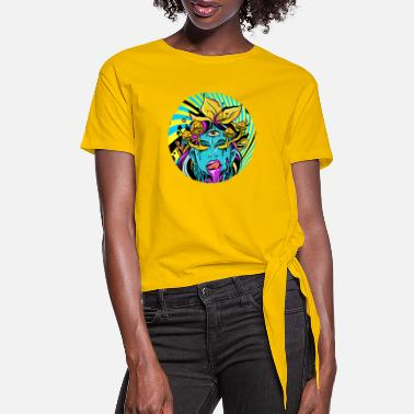 Weeding Psycadellic Girl Psytrance Psychedelic Research - Women's Knotted T-Shirt
