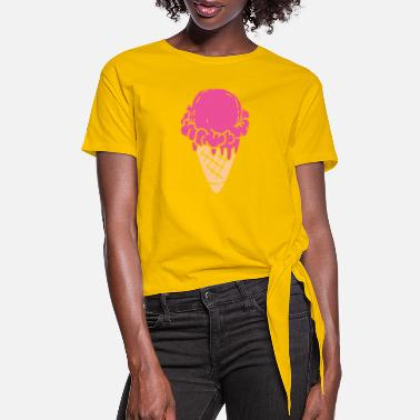 Ice Ice Cream - Women's Knotted T-Shirt