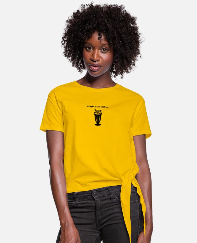 Young T-Shirts - I'd split a malt with you - Women's Knotted T-Shirt sun yellow