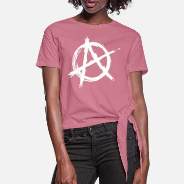 Anarchy anarchy rebellion - Women's Knotted T-Shirt