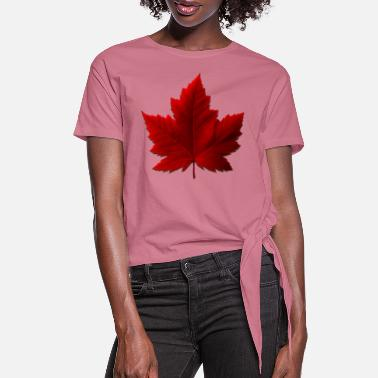 Maple Leaf Canada Maple Leaf Souvenirs - Women's Knotted T-Shirt