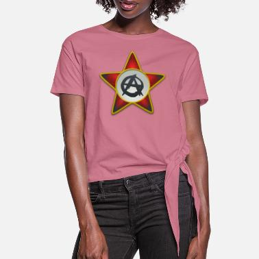 Anarchist Anarchist star - Women's Knotted T-Shirt