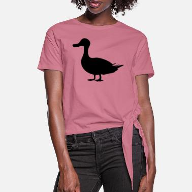 Duck duck silhouette - Women's Knotted T-Shirt
