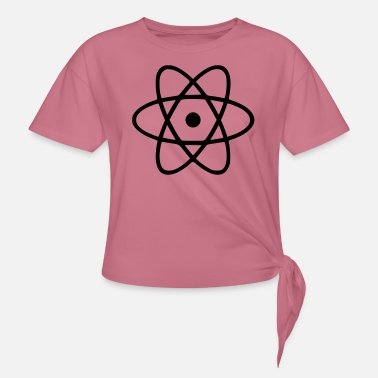 Atomic Energy Atom - Engineer - Physics - Energy - Women's Knotted T-Shirt