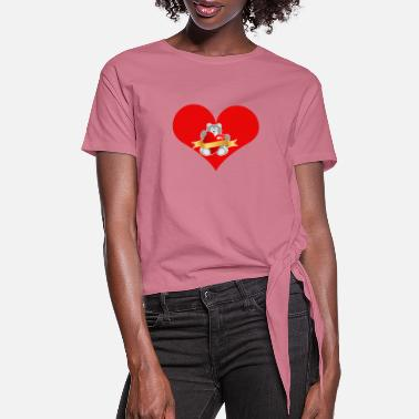 Love You Love you - Women's Knotted T-Shirt