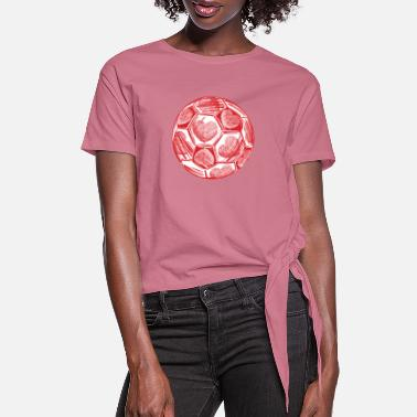 Baby Soccer Coach Heart Valentines Day Cute Gift Ideas - Women's Knotted T-Shirt